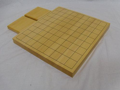 将棋盤 国産かや材1寸卓上盤(上 厚約3cm)駒台付