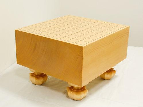 将棋盤 新かや材(スプルス材)5寸(盤厚 約14,6cm)足付盤