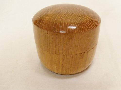 駒箱 欅材丸型