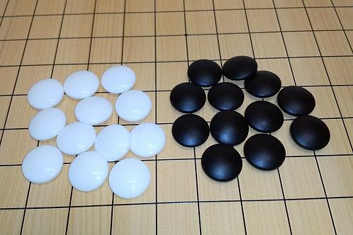 碁石 ガラス製新生印8mm厚(韓国製)