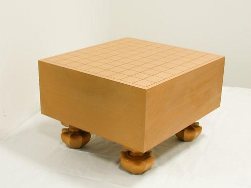 将棋盤 北海道産桂材5寸(盤厚 約14,6cm)足付盤