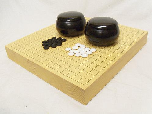 碁盤 ひば材2寸(厚,約6cm)卓上盤セット