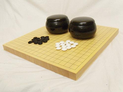 碁盤 新かや材(スプルス材)1寸卓上盤セット