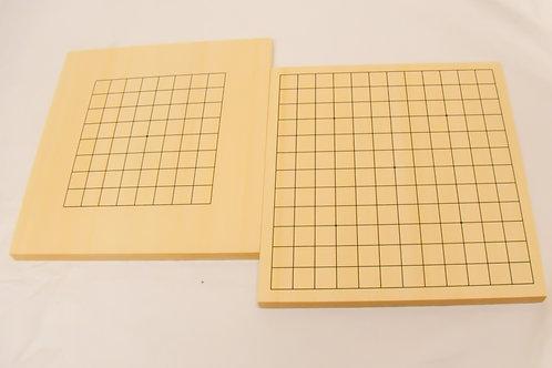 囲碁入門用,表面13路,裏面9路両面盤