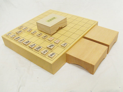 将棋盤 新かや材(スプルス材)2寸卓上盤セット
