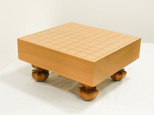 将棋盤 北海道産桂材3寸(盤厚 約8,6cm)足付盤