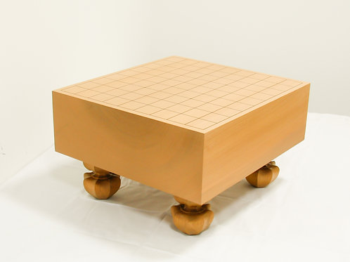 将棋盤 北海道産桂材4寸(盤厚 約11,6cm)足付盤