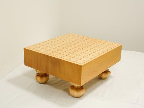 将棋盤 新かや材(スプルス材)3寸(盤厚 約8,5cm)足付盤
