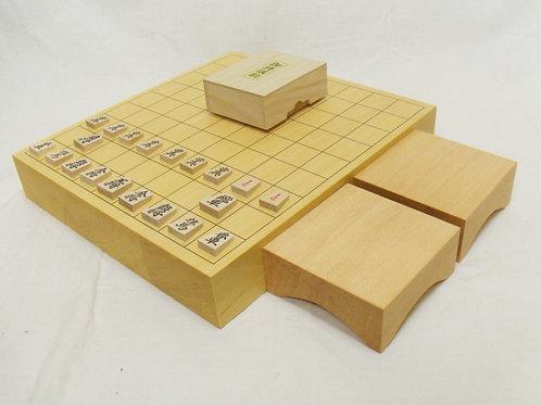 将棋盤 ひば材2寸卓上盤セット