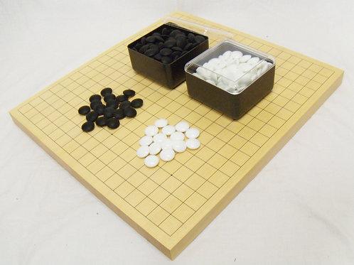 碁盤 新かや材(スプルス材)1寸卓上盤19,13路両面盤セット