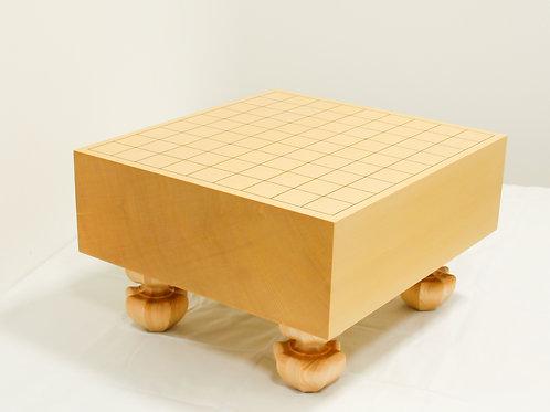 将棋盤 新かや材(スプルス材)4寸(盤厚 約11,6cm)足付盤