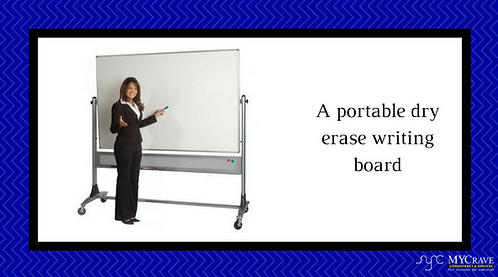 A portable dry erase writing board