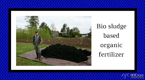 Bio sludge based organic fertilizer