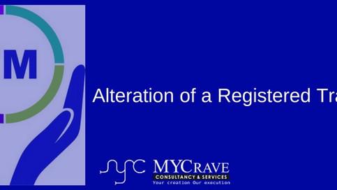 Alteration of a Registered Trademark