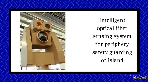 Intelligent optical fiber sensing system for periphery safety guarding of island