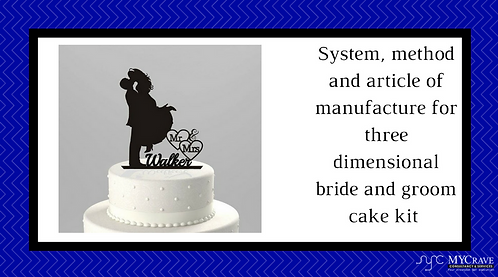 System To Manufacture For Three Dimensional Marriage Cake Kit