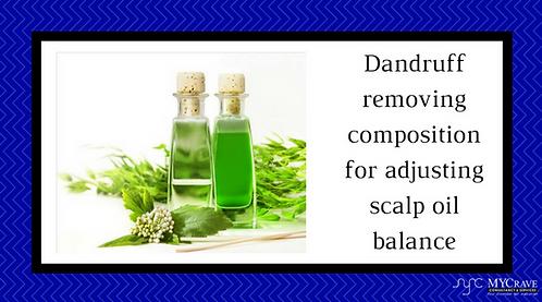 Dandruff removing composition for adjusting scalp oil balance