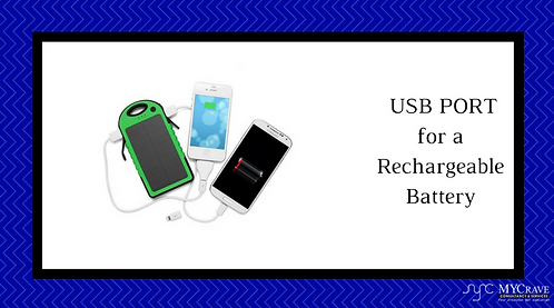 USB PORT for a Recharable Battery