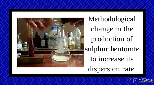 Methodological change in the production of sulphur bentonite to increase its dis