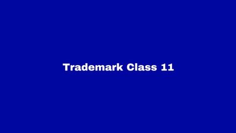 Trademark Class 11: Appliances