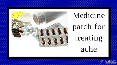 Medicine patch for treating ache