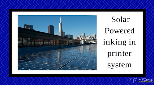 Solar Powered inking in printer system