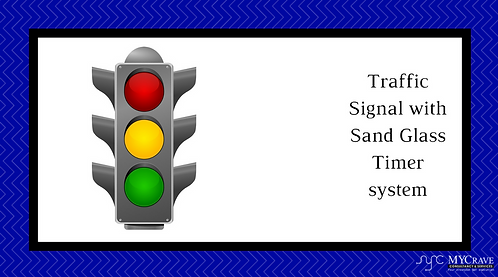 18)	Traffic Signal with Sand Glass Timer system