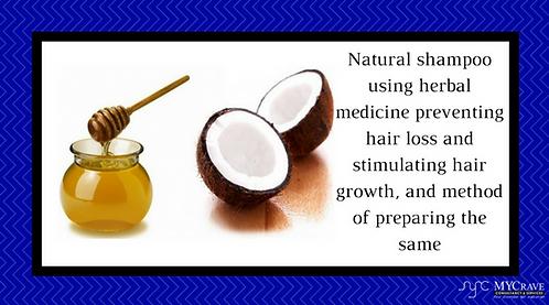 Natural shampoo using herbal medicine preventing hair loss and stimulating hair.