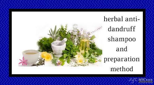 Herbal Anti-Dandruff Shampoo And Preparation Method