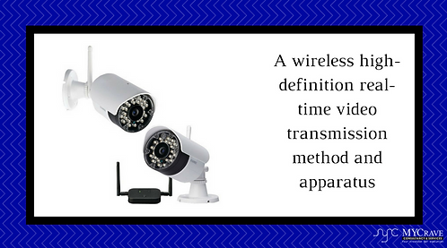 A wireless high-definition real-time video transmission method and apparatus