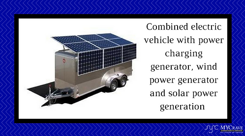 Combined Electric Vehicle with Wind Power Generator And Solar Power Generation