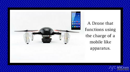 A Drone that functions using the charge of a mobile like apparatus.
