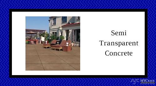 Semi Transparent Concrete