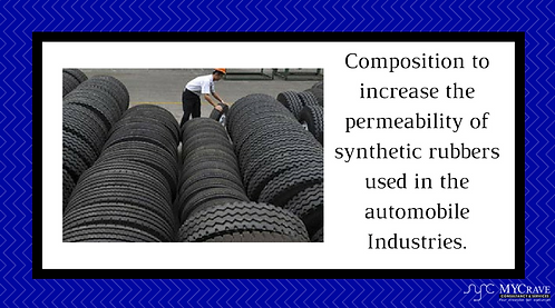 Composition to increase the permeability of synthetic rubbers used in the automo