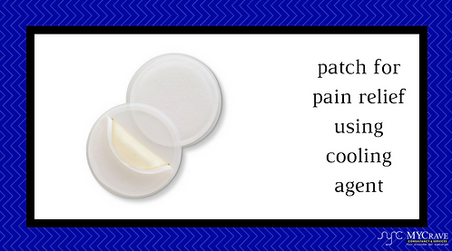 patch for pain relief using cooling agent