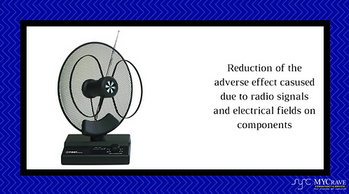 Reduction of the adverse effect casused due to radio signals and electrical.