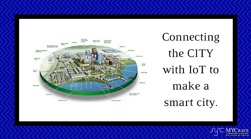 Connecting the CITY with IoT to make a smart city.