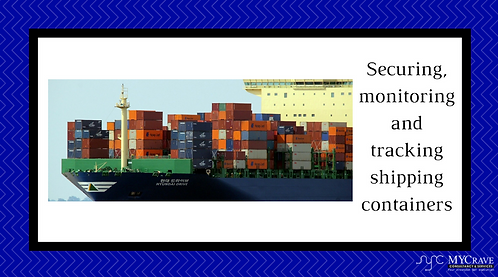 Securing, monitoring and tracking shipping containers