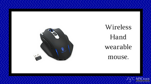 Wireless Hand wearable mouse.