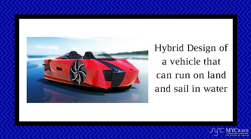 Hybrid Design of a vehicle that can run on land and sail in water