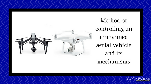 Method of controlling an unmanned aerial vehicle and its mechanisms
