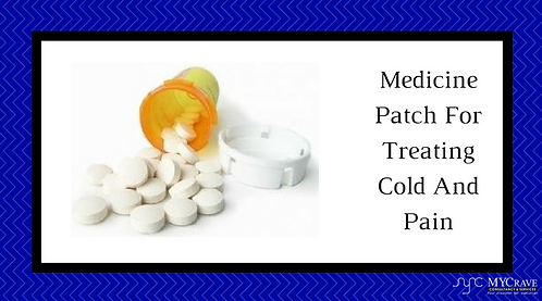 Medicine Patch For Treating Cold And Pain