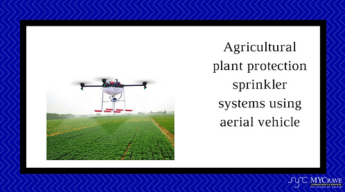 Agricultural plant protection sprinkler systems using aerial vehicle