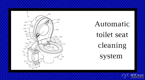 Automatic toilet seat cleaning system