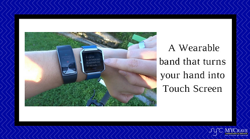 A Wearable band that turns your hand into Touch Screen