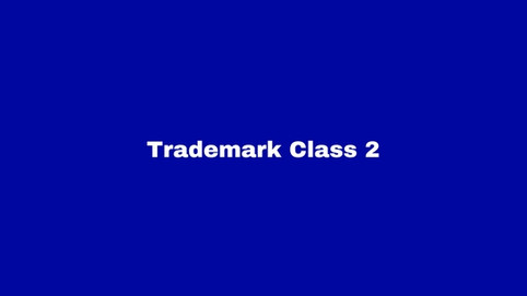 Trademark Class 2: Paints and Varnishes.