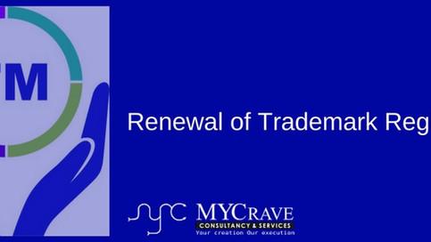 Renewal of Trademark Registration
