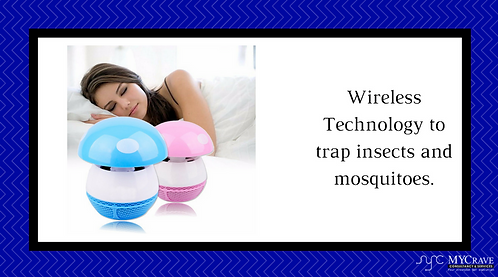 Wireless Techology To Trap Insects And Mosquitoes.