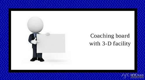 Coaching board with 3-D facility