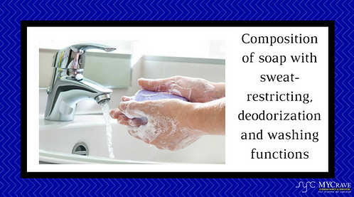 Composition of soap with sweat-restricting, deodorization and washing functions